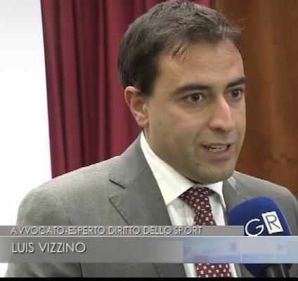 Stop ai Campionati di Serie C. Ieri l'Avv. LUIS VIZZINO ai microfoni del  TG3